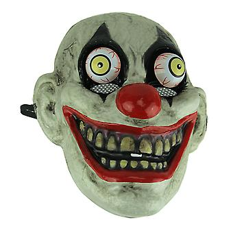 Black Eye Old Looking Creepy Googly Eyed Clown Costume Mask