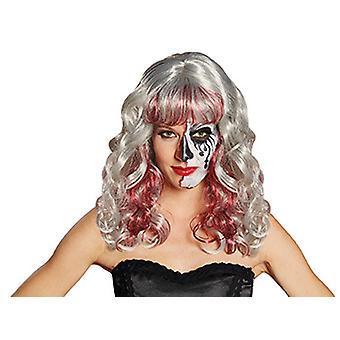 Krwawe aschblonde Valentina kręcone wig wig akcesoria dla kobiet
