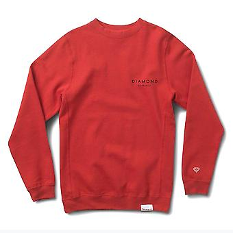 Diamond Supply Co. Pierre taillée Crewneck rouge