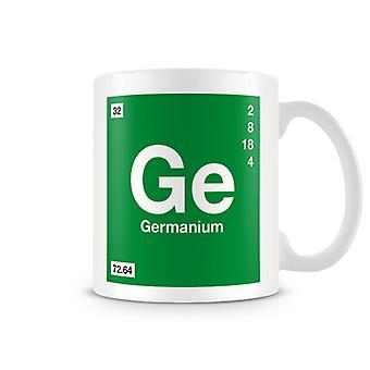 Scientific Printed Mug Featuring Element Symbol 032 Ge - Germanium