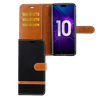 Huawei Honor 10 Handy-Hülle Schutz-Tasche Case Cover Kartenfach Etuis Schwarz