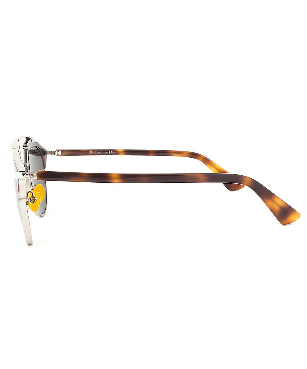 Christian Dior SOREAL AOOMD Sunglasses   Havana/Silver Gunmetal Frame   Grey Lenses