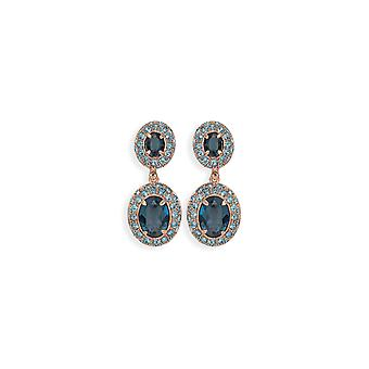 Blue earrings with crystals from Swarovski 4799