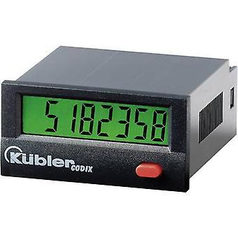 Kübler Pulse counters Codix 132 ,Assembly dimensions 45 x 22 mm, High Voltage. 10 - 260 V / AC / DC, 30 Hz
