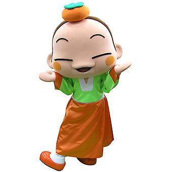 mascot SPOTSOUND girl colored with an orange on the head