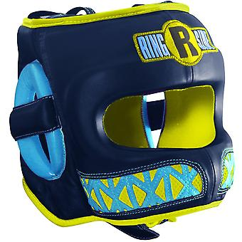 Ringside Youth Face Saver Boxing Headgear - Navy/Gold