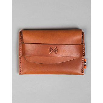 Tumble and Hide Chukka Leather Card Pouch - Tan