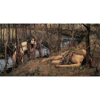 A Naiad,John William Waterhouse,80x40cm