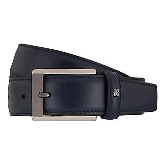 MIGUEL BELLIDO clasico belts men's belts leather belt blue 7713 building