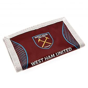 West Ham United FC Touch fastgørelse Nylon tegnebog