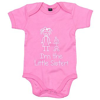 I'm The Little Sister Pink Baby Grow