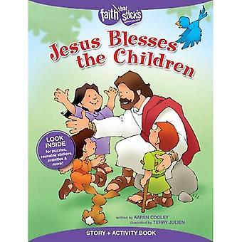 Jesus segnet die Kinder (glauben, die Sticks)