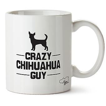 Hippowarehouse hullu Chihuahua kaveri painettu muki Cup keraaminen 10oz