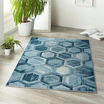 Bomba de superdemolición rectángulo azul alfombras alfombras modernas