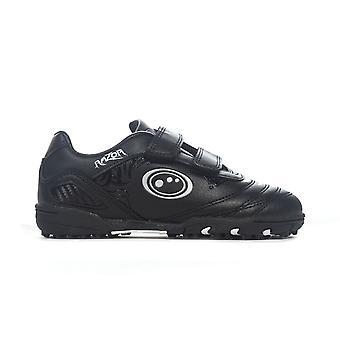 Cinghia di rasoio ottimale modellato bambini Astro Turf Trainer scarpa nero/argento