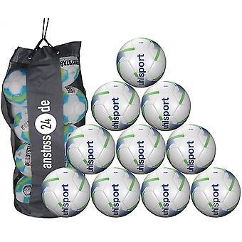 10 x Uhlsport utbildning ball TEAM inkluderar bollen säck