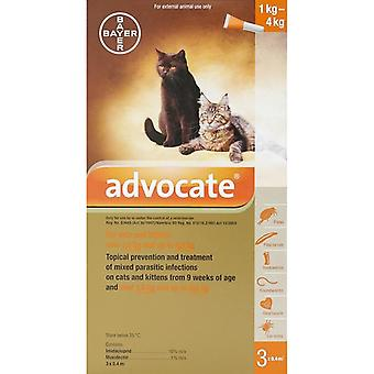 Advantage Multi (Advocate) Cats Under 8.8lbs (4kg) - 3 Pack