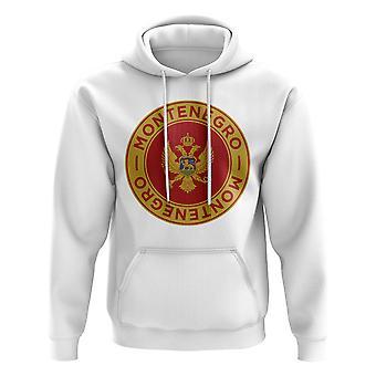 Monténégro Football Badge Hoodie (White)