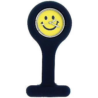 Boxx Navy blå Smiley Face infektion Control Gel professionell Fob Watch Boxx49