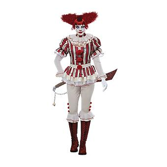 Womens Sadistic Clown Circus Carnival Fancy Dress Cstume