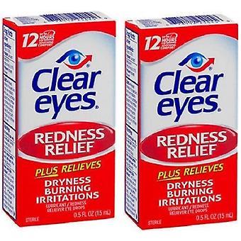 Olhos claros vermelhidão alívio colírio Pack 2