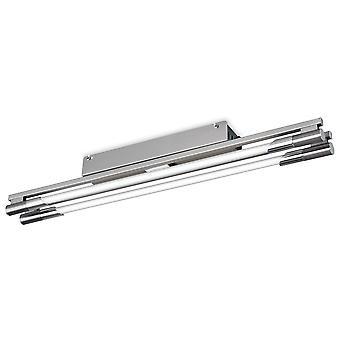 Firstlight-2 luz de descarga ligera de acero cepillado-2338BS