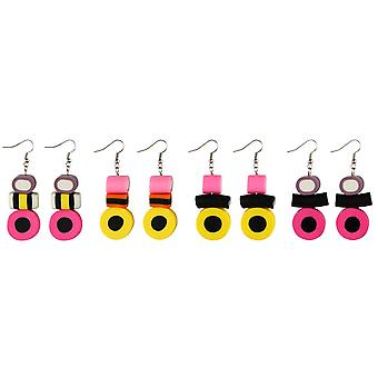 Liquorice Allsort Drop Earrings