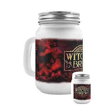 Grindstore Witch's Brew Frosted Mason Jar Drinking Glass