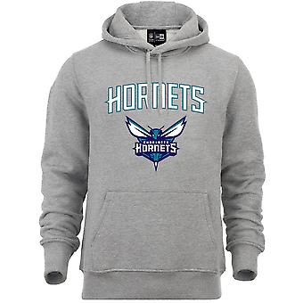 New Era Fleece Hoody-NBA Charlotte Hornets Grey