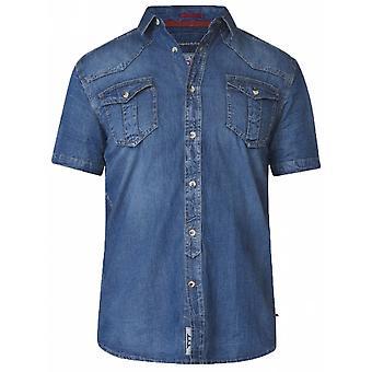 DUKE Duke Stonewash Denim Short Sleeve Shirt