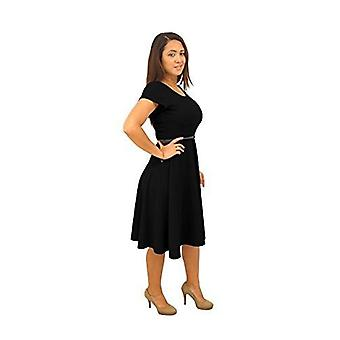 Dbg manches courtes manches scoop col robe en polyester