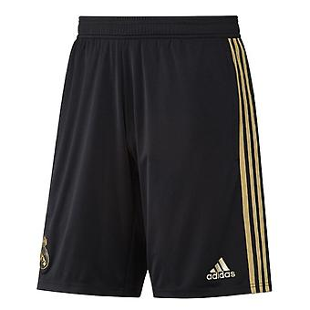 2019-2020 Real Madrid Adidas Training pantaloni scurți (negru)-copii