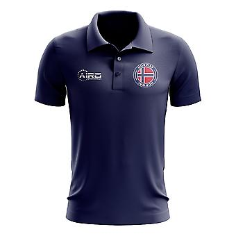 Norway Football Polo Shirt (Navy)