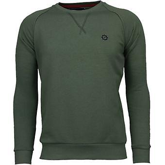 Exklusiv Basic-Sweatshirt-Army grön