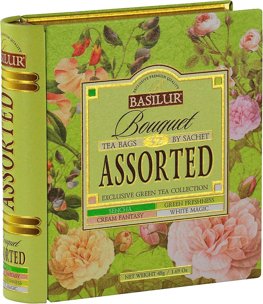 Assorted Tea Book-green Tea In Tea Caddyx32 Tea Bags