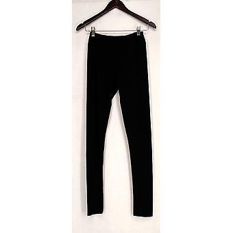 Kate & Mallory leggings skåret & brugerdefinerede hem detaljer sort dame A428690