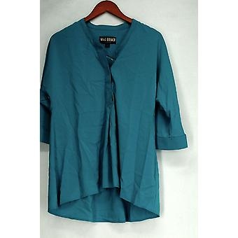 Marc Bouwer Top Dolman Sleeve Tunic w/ Y- Neckline Front & Back Blue A422349
