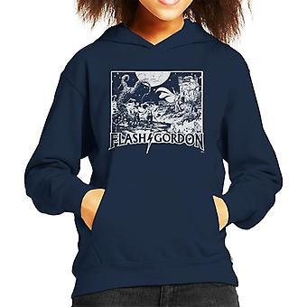 Flash Gordon Princess Aura Face Off Kid's Hooded Sweatshirt