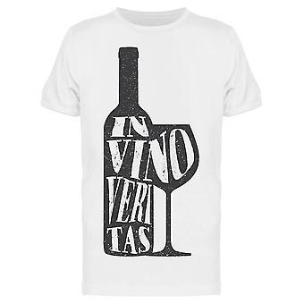 In Vino Veritas Quote Tee Men-apos;s -Image par Shutterstock