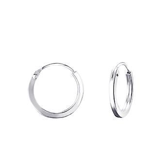 Round - 925 Sterling Silver Ear Hoops - W22686x