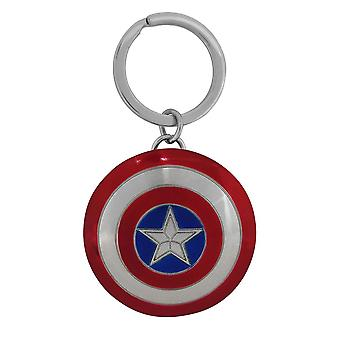 Captain America Movie Metal Shield  Keychain