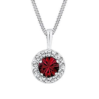 Woman Necklace 925 Sterling Silver Crystal Swarovski-Crystal 45 cm Red 0110942513_45