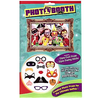 Party Photo Booth Selfie Props 12pc - Kids Party