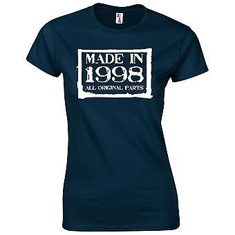 21. Geburtstagsgeschenke für Frauen ihr Gemacht im Jahr 1998 T-Shirt