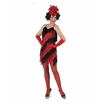 Fringe jurk Charleston jurk vrouwen kostuum carnaval thema party kostuum vrouwen Flapper