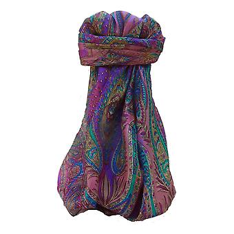 Mulberry Silk Traditional Square Scarf Zayd Violet by Pashmina & Silk