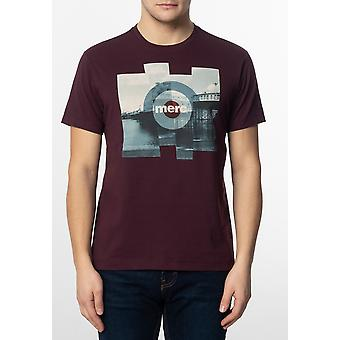 Merc BRETT, mannen ' s katoen T-shirt met Pier foto afdrukken