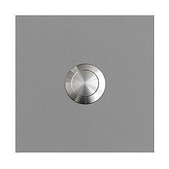 MOCAVI anello 115 quadrato in acciaio inox design anello bianco alluminio satinato RAL 9006 (7,5 x 7,5 x 2)