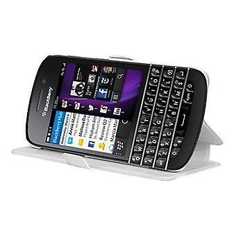 Cadorabo Hülle für Blackberry Q10 hülle case cover - Handyhülle mit Standfunktion und Kartenfach im Ultra Slim Design  - Case Cover Schutzhülle Etui Tasche Book