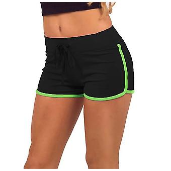 Women's training shorts-zwart en groen